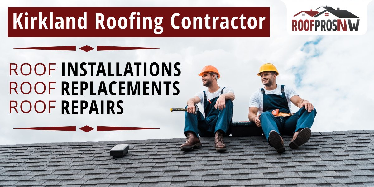 Two roofers sitting on top of a composite roof wearing coveralls and hardhats with tools.